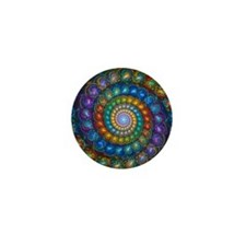Fractal Spiral Beads Shirt Mini Button