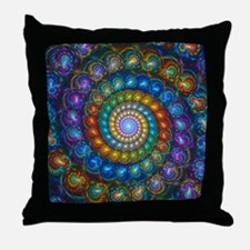 Fractal Spiral Beads Shirt Throw Pillow