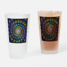 Fractal Spiral Beads Shirt Drinking Glass