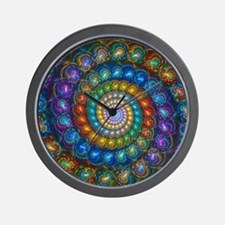 Fractal Spiral Beads Shirt Wall Clock
