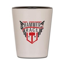 Hammer Race Badge Shot Glass