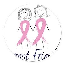 Breast Friends Round Car Magnet
