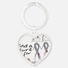 Find A Cure Heart Keychain