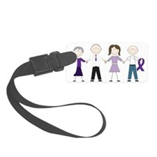 Alzheimers Stick Figures Luggage Tag