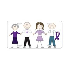Alzheimers Stick Figures Aluminum License Plate