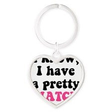 Pretty Snatch Heart Keychain