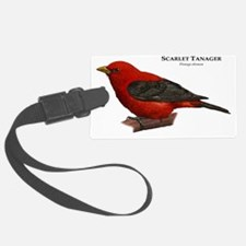 Scarlet Tanager Luggage Tag