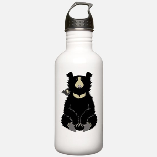 Sloth Bear with Cub (d Water Bottle