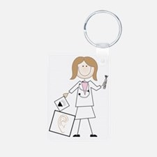 Female Audiologist Keychains