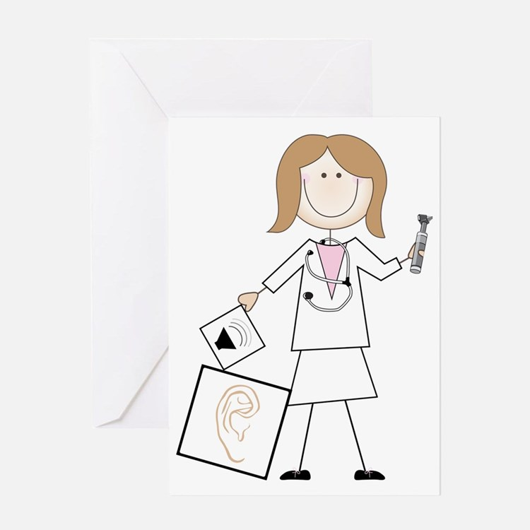 Female Audiologist Greeting Card