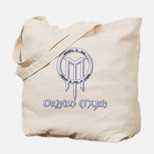 Combo Logo - Countoured White - Glow Blue Tote Bag