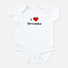I Love Hrvatska Infant Bodysuit