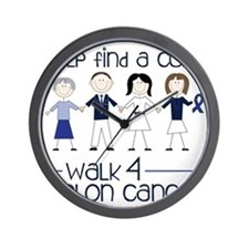 Colon Cancer Wall Clock