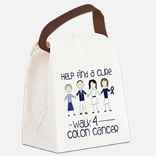 Colon Cancer Canvas Lunch Bag