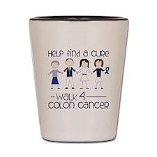 Colon Cancer Shot Glass