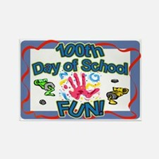 100th Day FUN Rectangle Magnet