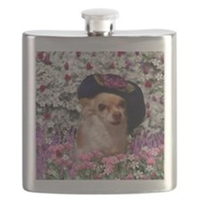 Chi Chi the Chihuahua in Flowers Flask
