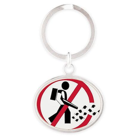 noleaftblowers Oval Keychain
