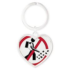 noleaftblowers Heart Keychain