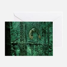 Green Woods Owl Greeting Card