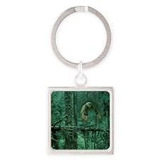 Green Woods Owl Square Keychain