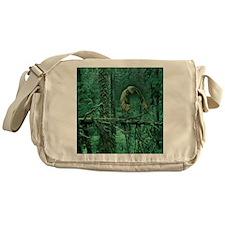 Green Woods Owl Messenger Bag