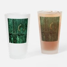 Green Woods Owl Drinking Glass