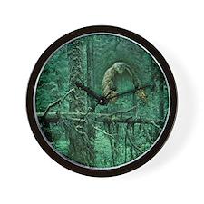 Green Woods Owl Wall Clock