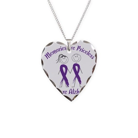 Help Cure Alzheimers Necklace Heart Charm