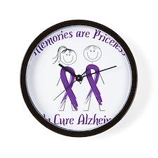 Help Cure Alzheimers Wall Clock