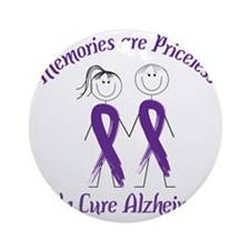 Help Cure Alzheimers Round Ornament