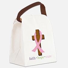 Faith Hope Cure Canvas Lunch Bag