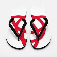 TCCA Logo white Flip Flops
