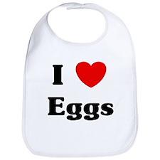 I love Eggs Bib