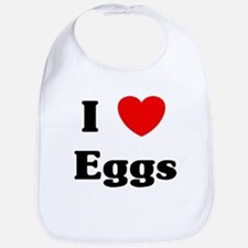 I love Eggs Bib