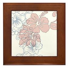 Hibiscus Framed Tile