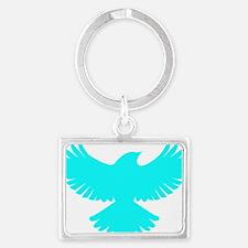 Robin Parody Bird Logo Landscape Keychain
