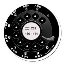 Rotary Dial Phone -T Round Car Magnet