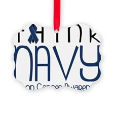 Think Navy Ornament