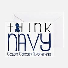 Think Navy Greeting Card