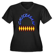 CHICKASAW TR Women's Plus Size Dark V-Neck T-Shirt