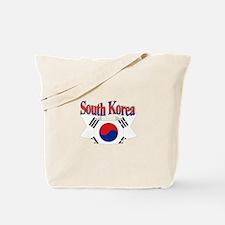 South Korean flag ribbon Tote Bag