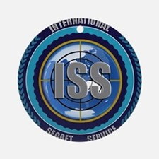 ISS Seal (black) Round Ornament