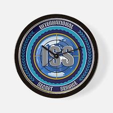 ISS Seal (black) Wall Clock