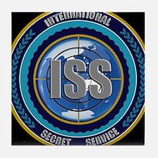 ISS Seal (black) Tile Coaster