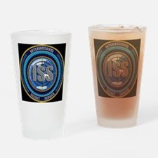 ISS Seal (black) Drinking Glass
