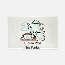 Wild Tea Parties Rectangle Magnet