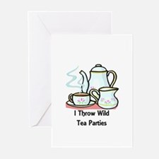 Wild Tea Parties Greeting Cards (Pk of 10)