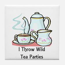 Wild Tea Parties Tile Coaster