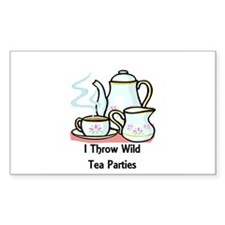 Wild Tea Parties Rectangle Decal
